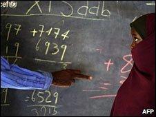Schoolgirl in Somalia (file photo)
