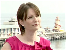 Kirsty Williams at the seafront in Bournemouth