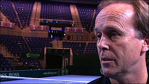 Davis Cup captain John Lloyd