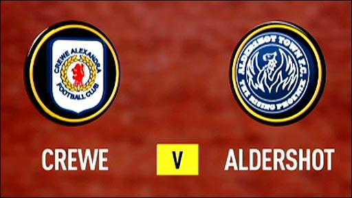 Crewe v Aldershot
