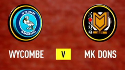 Highlights - Wycombe 0-1 MK Dons