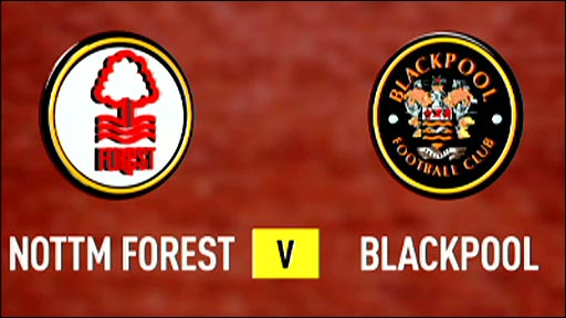 Nottm Forest v Blackpool