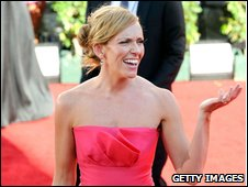 Toni Collette arrives at Emmys ceremony