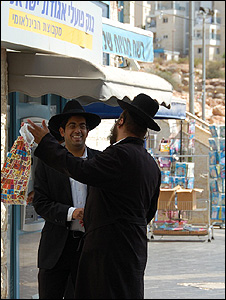 Haredi settlers at at Modiin Illit - by Tim Franks