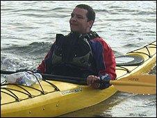 Dan arrives at Portpatrick safe and sound