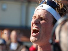 James Cracknell at the end of Great North Run 2009