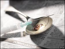 Syringe and spoon