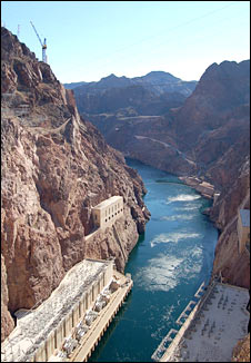 Hoover Dam, Colorado River. US