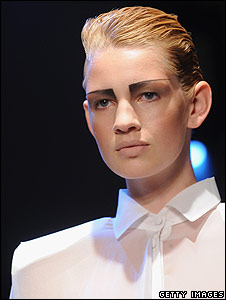 Model at London Fashion Week