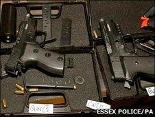 Guns found in the Essex farmhouse
