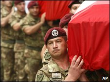 Six Italian soldiers killed in Afghanistan are buried in Rome on Monday