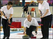 Welsh Curling team competing at Madrid