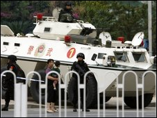 Special weapons police in Beijing - 18 Sept 2009
