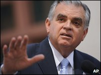 US Transportation Secretary Ray LaHood (file image)