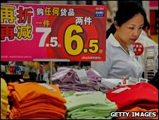 A woman shopping in Shaghai