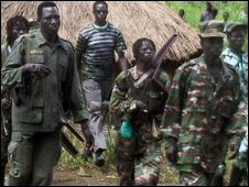 LRA rebels pictured in 2006