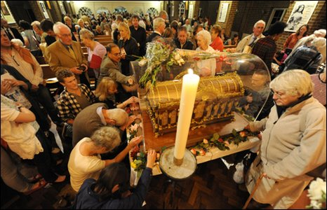 The relics of St Teresa of Lisieux, on show in Taunton