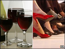 Wine and shoes