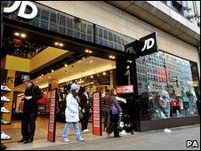 A JD Sports shop front