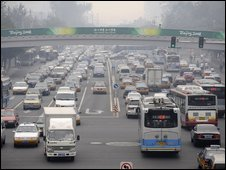 Cars in Beijing, 2008