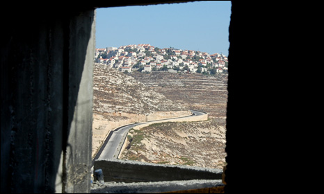 View of Givat Ze'ev from Agan Ha'ayalot (photo by Martin Asser/BBC)