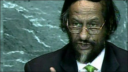 Dr Rajendra Pachauri, Chair of the Intergovernmental Panel on Climate Change