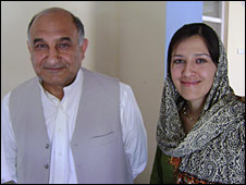 Khaliq Nemat and his daughter Ozala Ashraf Nemat