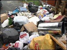 Rubbish in Leeds