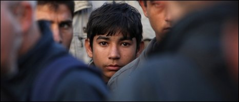 "A young migrant at makeshift camp known as ""The Jungle"""