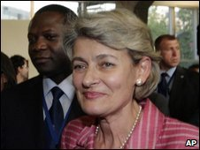 Irina Bokova after her election