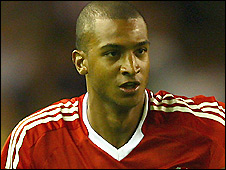 Liverpool striker David Ngog