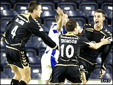 Andy Dorman celebrates his winner