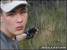 Damian Janson at a conservation project in Namibia