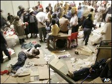 Refugees in Central Methodist Church, January 2008