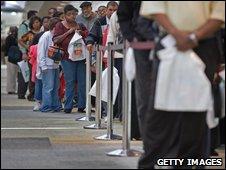 Unemployment line in Baltimore