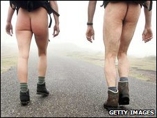 Trouserless ramblers, file pic