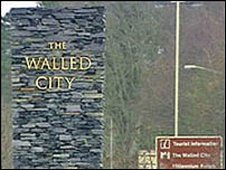 Walled City Sign