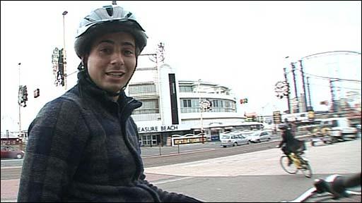 Ricky on a bike