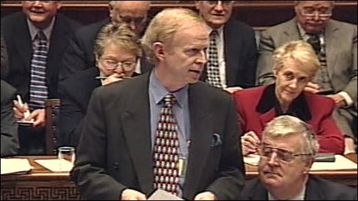 Sir Reg Empey during the 1999 Ministerial nominations