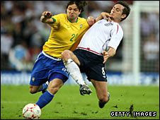 Diego and Frank Lampard in action the last time the teams met, in 2007