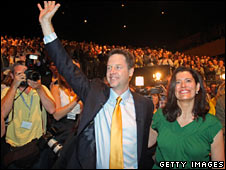 Mr Clegg and his wife Miriam