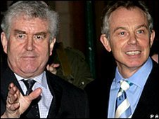 Rhodri Morgan and Tony Blair