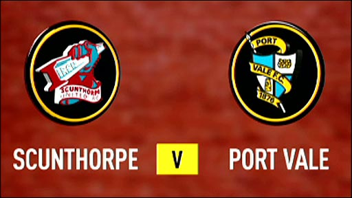 Scunthorpe United v Port Vale