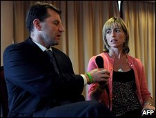 Gerry and Kate McCann in Lisbon on 23 September 2009