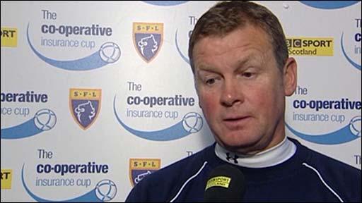Queens manager Gordon Chisholm