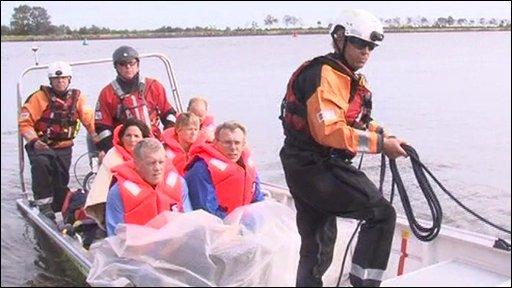 Simulating a massive flood rescue