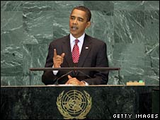 US President Barack Obama speaks at the UN