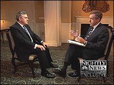 Gordon Brown on NBC