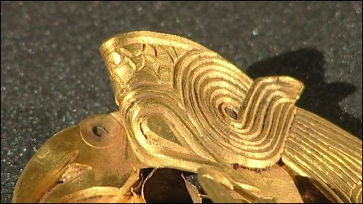 Detail of Anglo Saxon gold piece