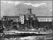 Reading Gaol in 1850